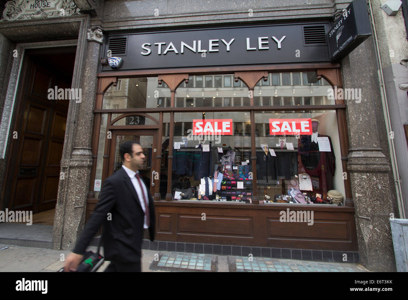 Stanley Ley Legal outfitters - Stock Image