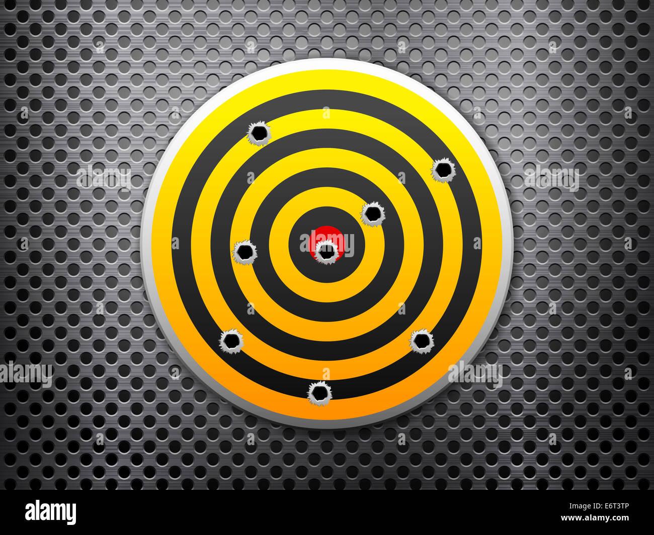 Target Bullet Holes On Metal Stock Photos & Target Bullet Holes On ...