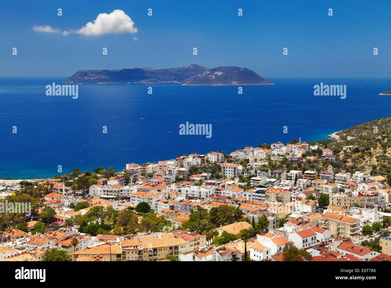 Town Kas, Mediterranean Coast, Turkey - Stock Image