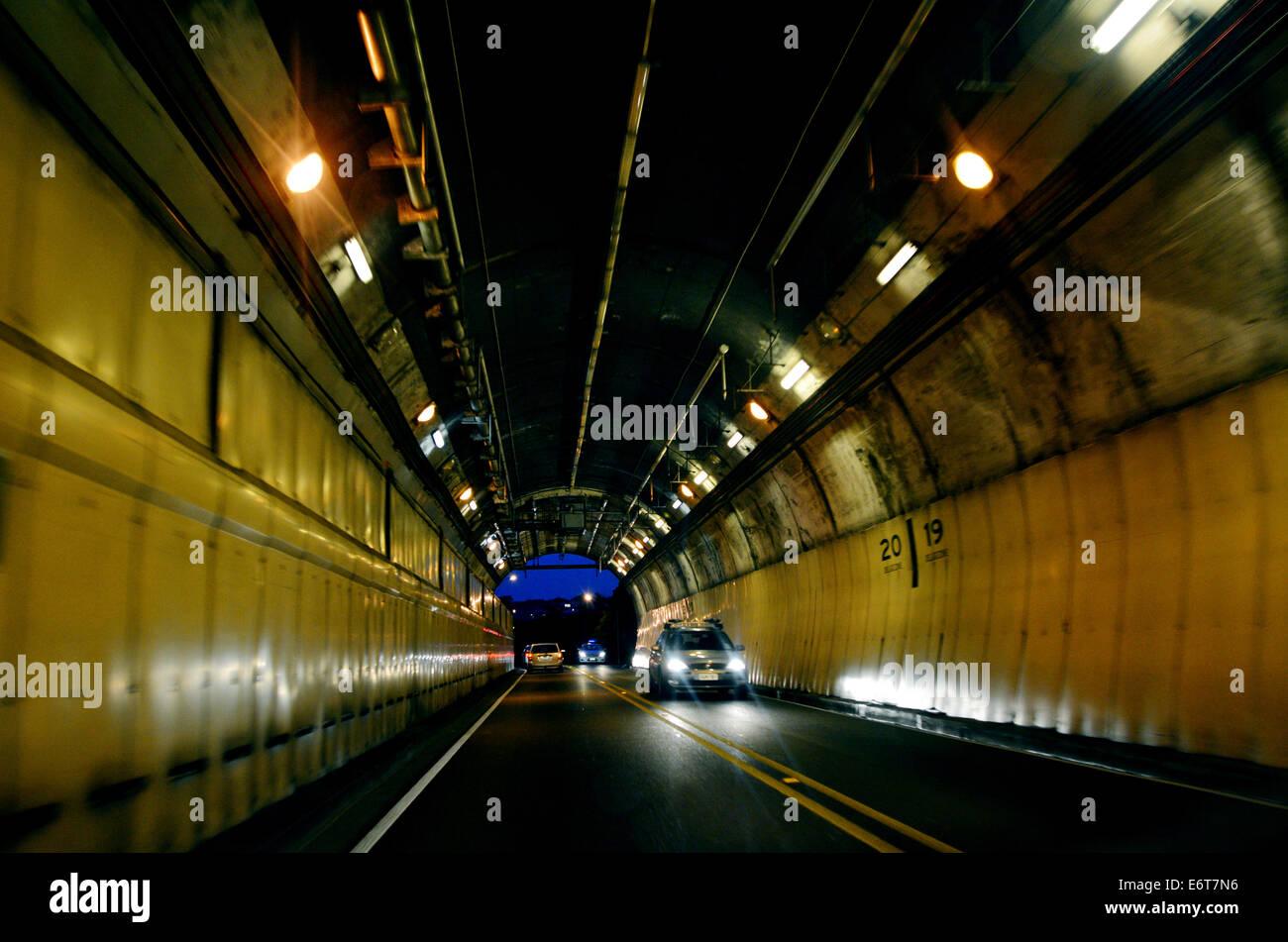 Terrace Motorway Tunnel in Wellington, New Zealand - Stock Image