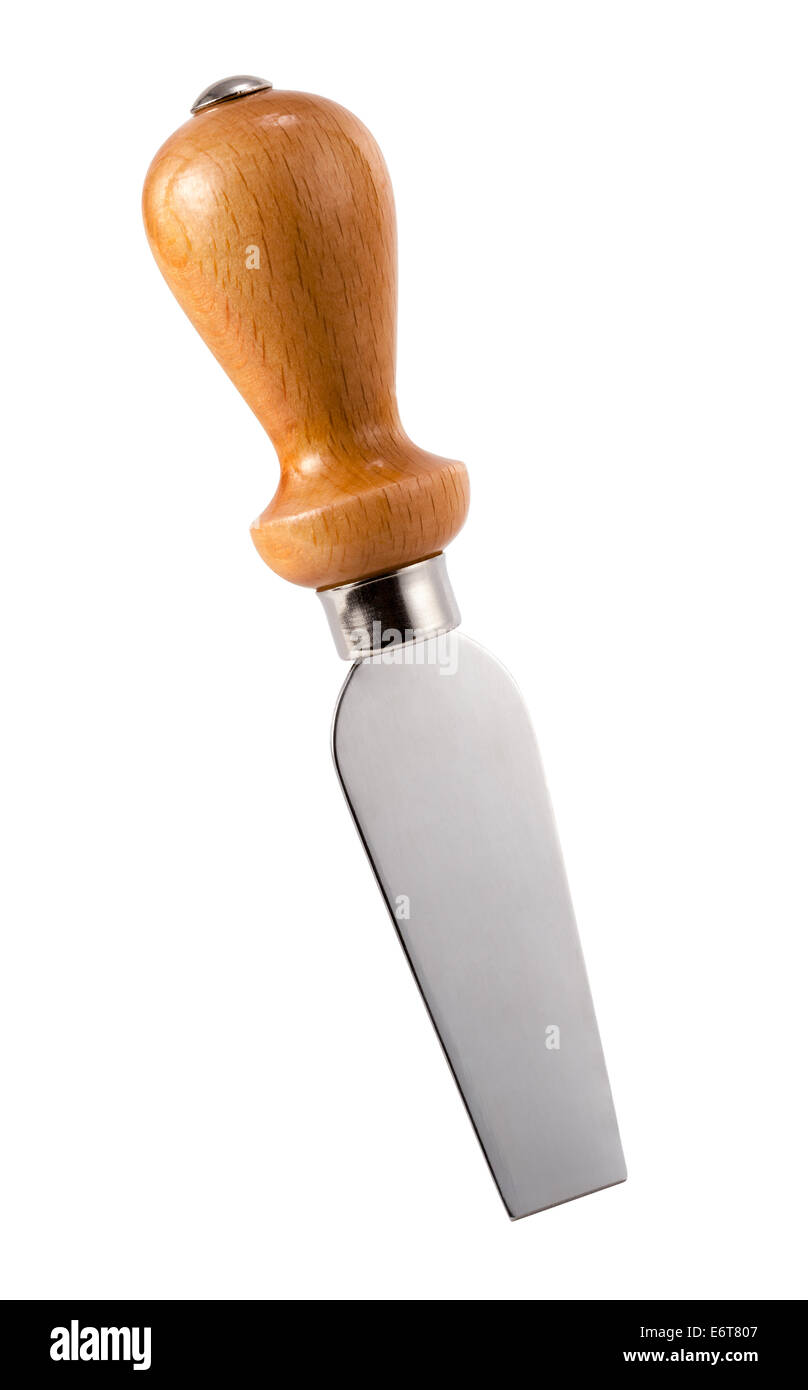 Italian Cheese Knife isolated on a white background. - Stock Image