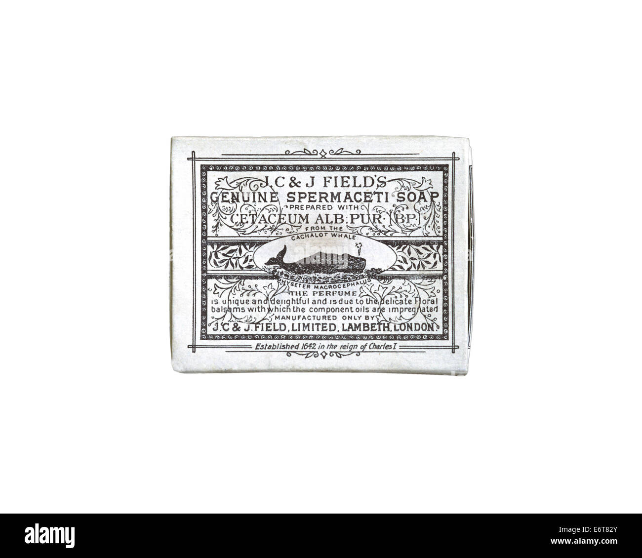Spermaceti Soap - Stock Image