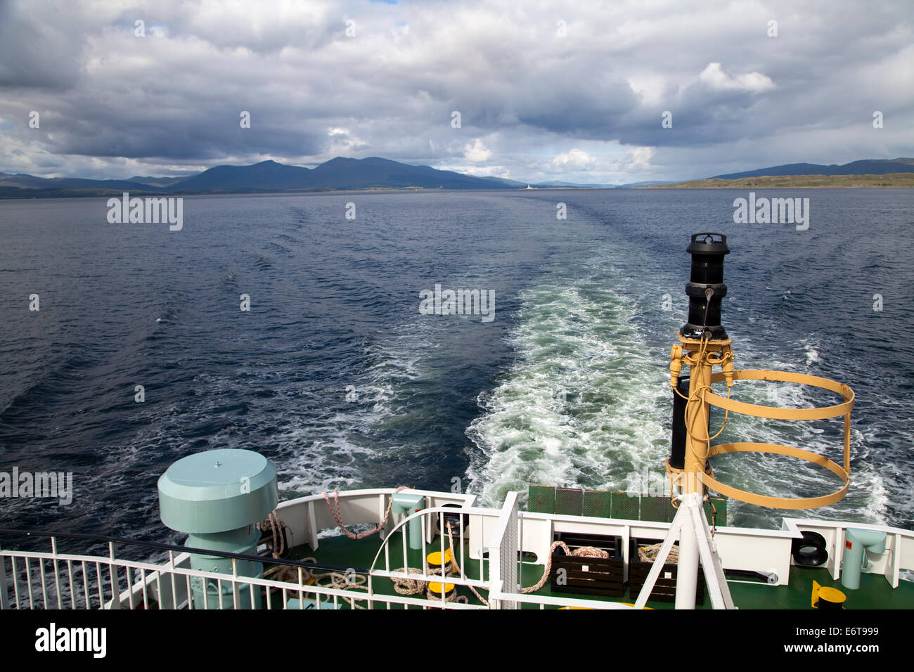 View from the ferry crossing the Sound of Mull from Craignure to Oban in Scotland - Stock Image