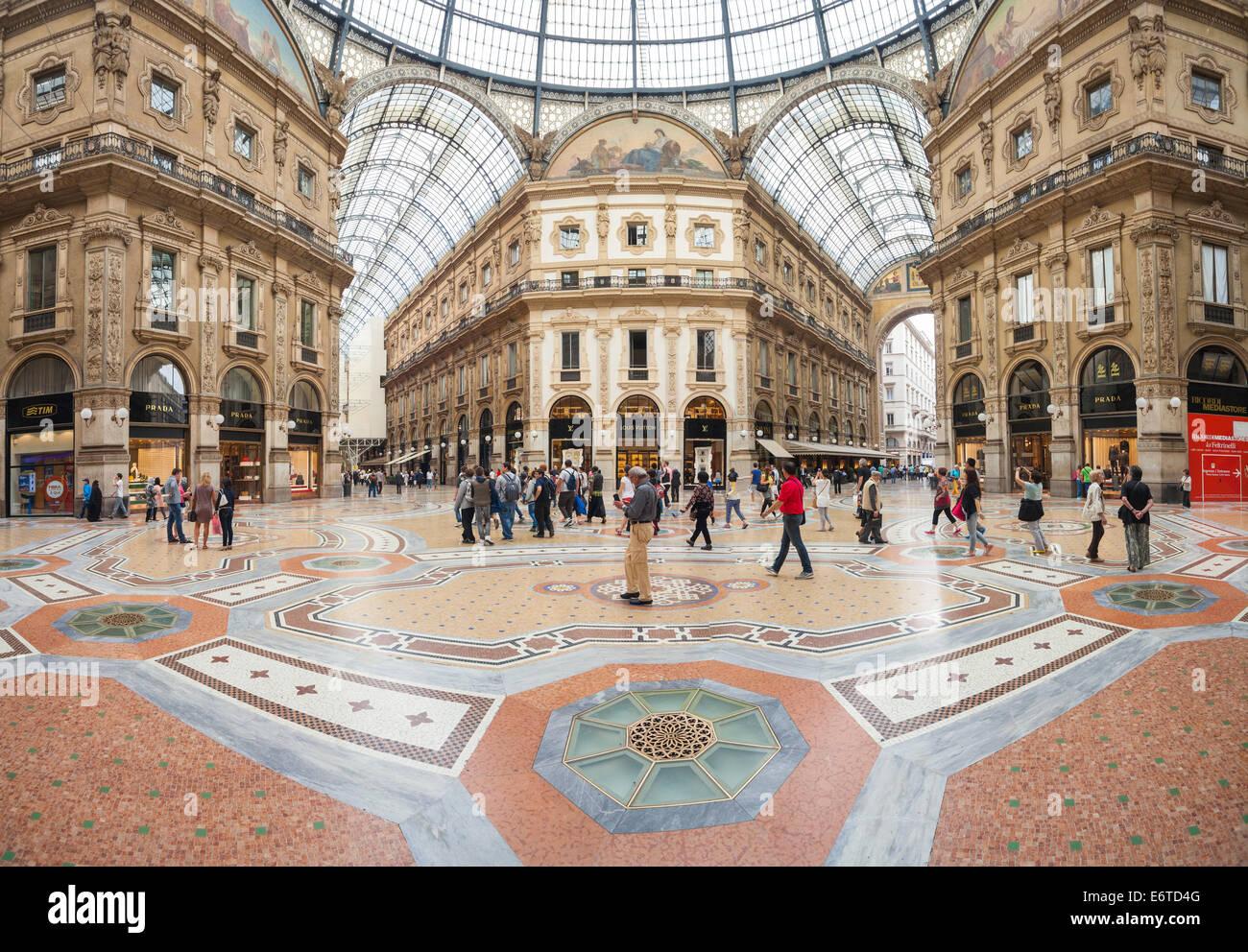 Vittorio Emanuele Gallery La Galleria Milan Milano Italy Stock Photo Alamy