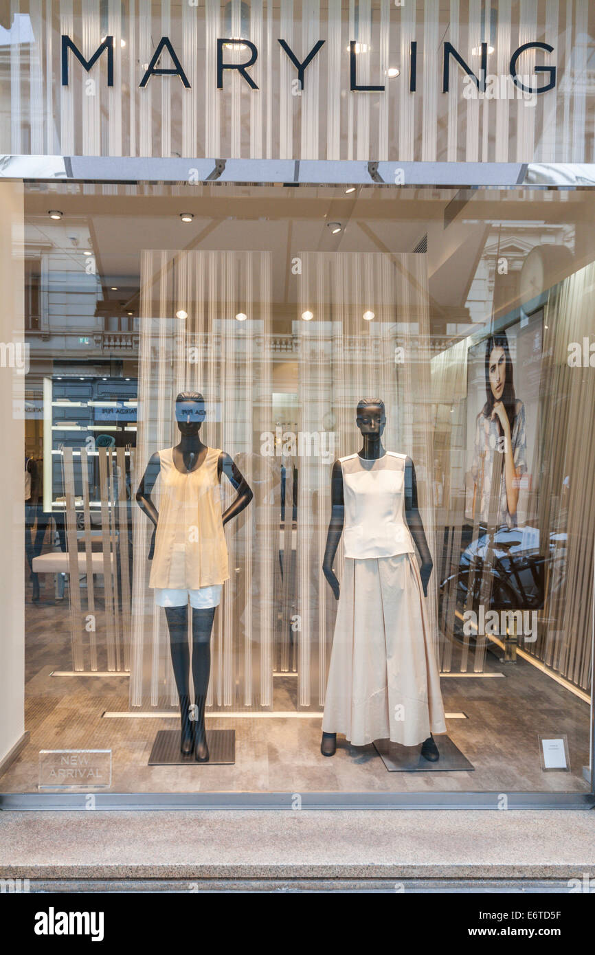 High class Mary Ling shop in Milan's Quadrilatero d'Oro - golden shopping rectangle - Via Monte Napoleone, Milan, - Stock Image