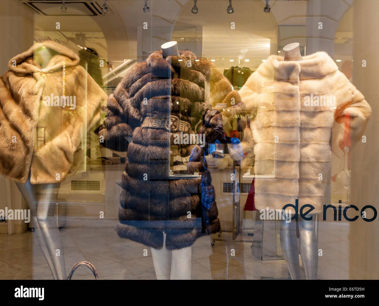 High class De Nico shop in Milan's Quadrilatero d'Oro - golden shopping rectangle - Via Monte Napoleone, Milan, - Stock Image