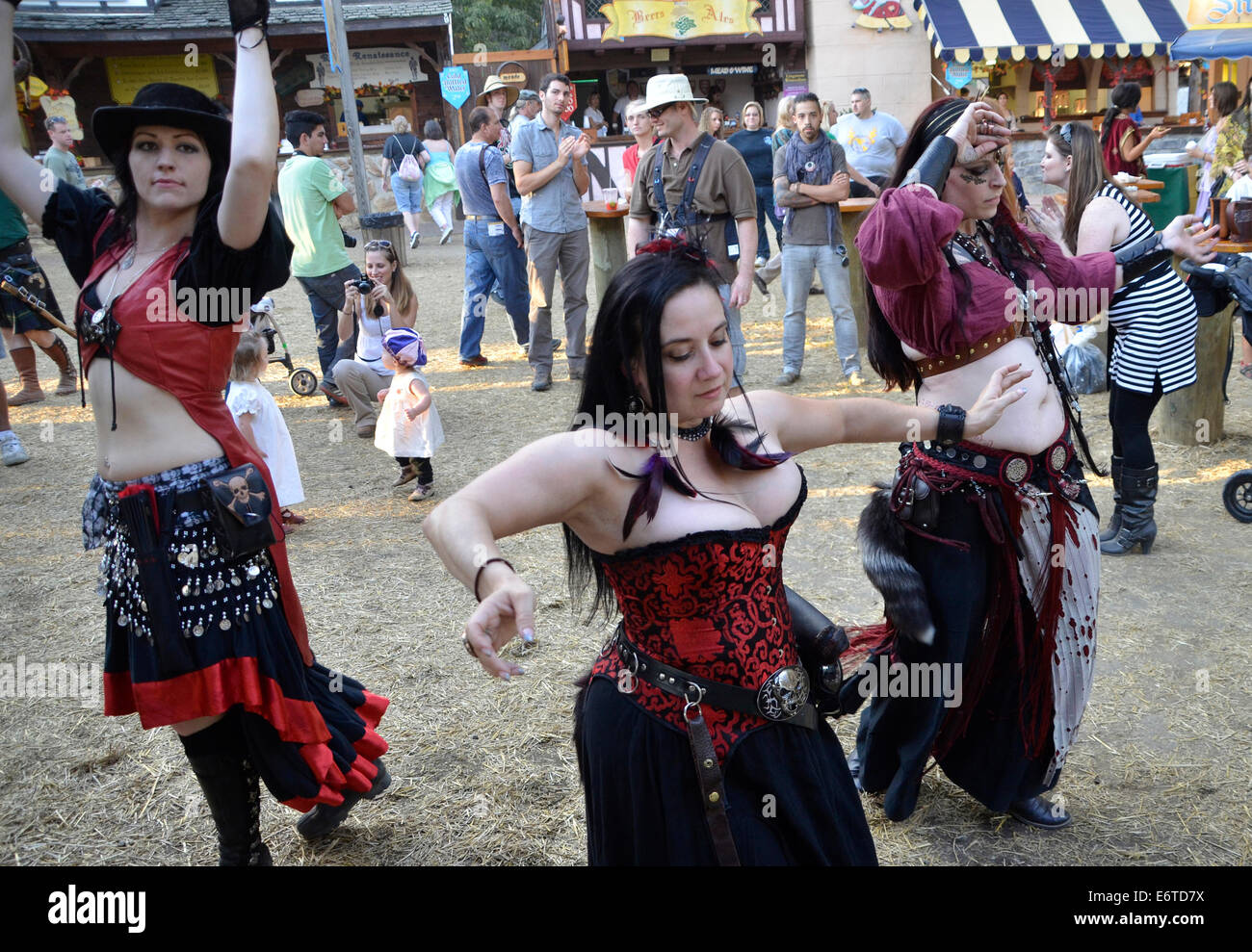 3 women dancing at the Renaissance Festival in Crownsville