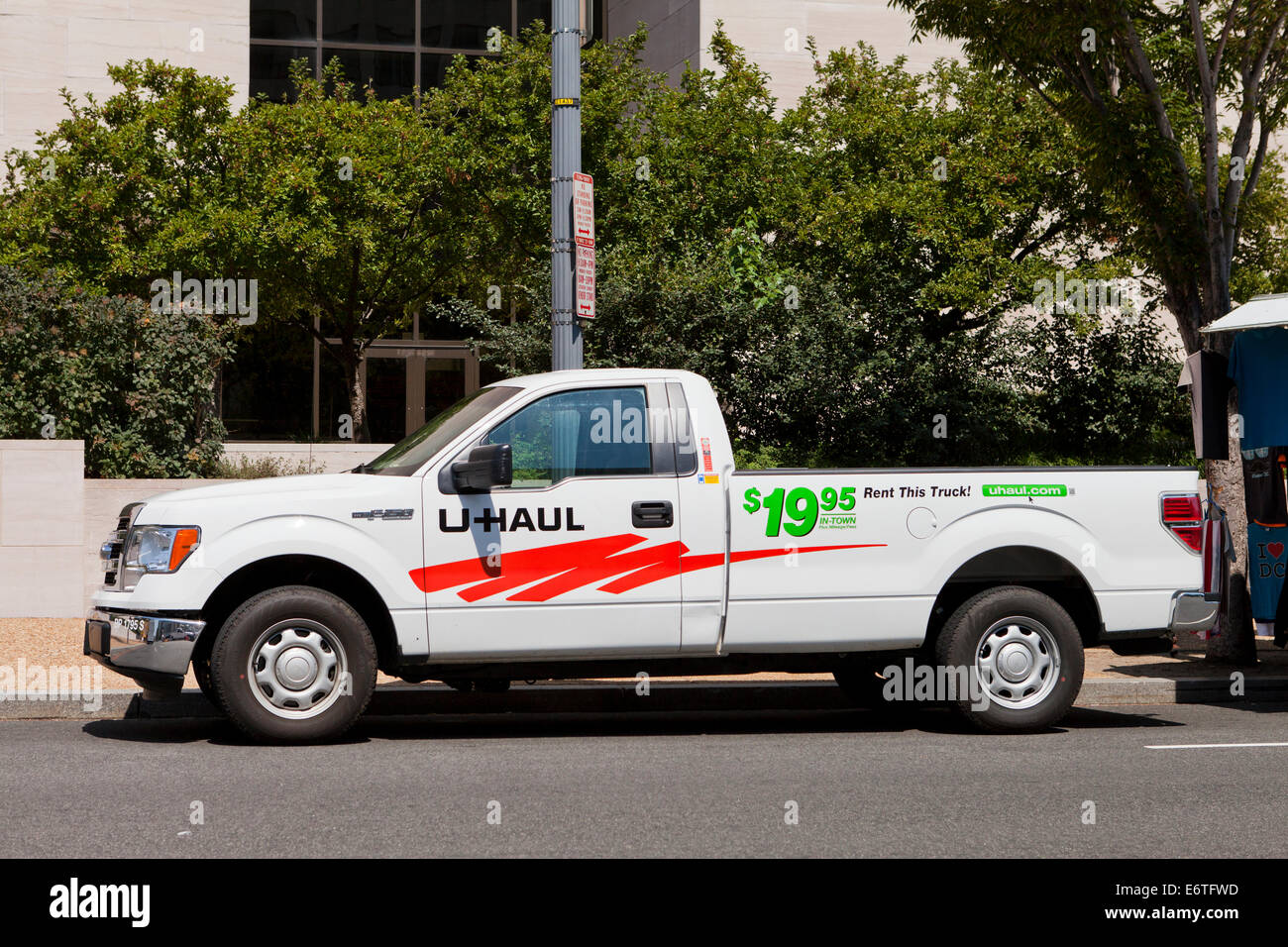 U-Haul rental pickup truck - USA - Stock Image