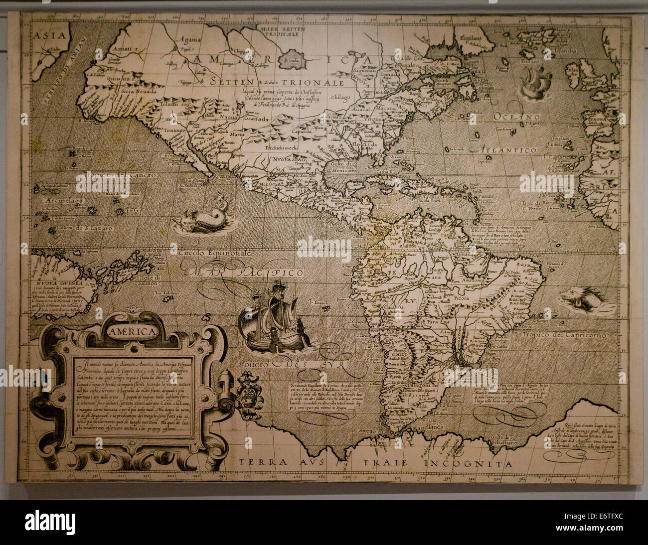 'America' by Arnoldo di Arnoldi, circa 1600 - Library of Congress, Washington, DC USA - Stock Image