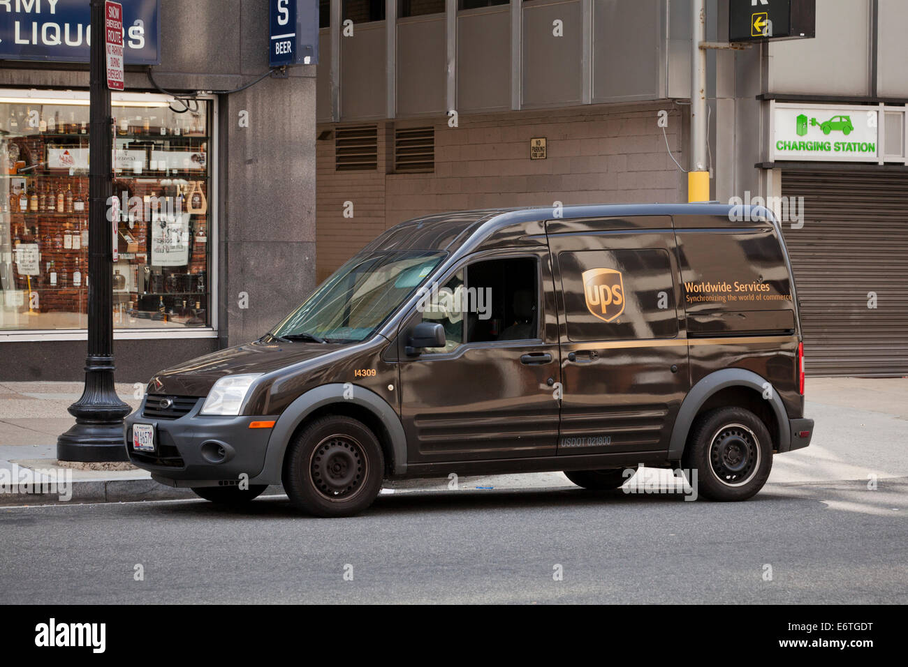 UPS delivery truck - Washington, DC USA Stock Photo