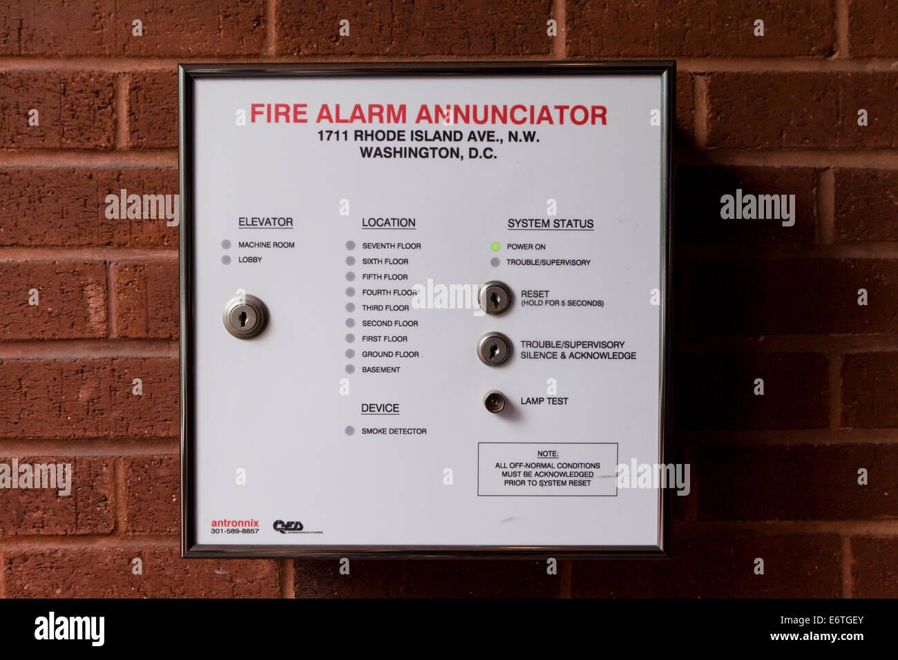 Commercial Building Fire Alarm Annunciator
