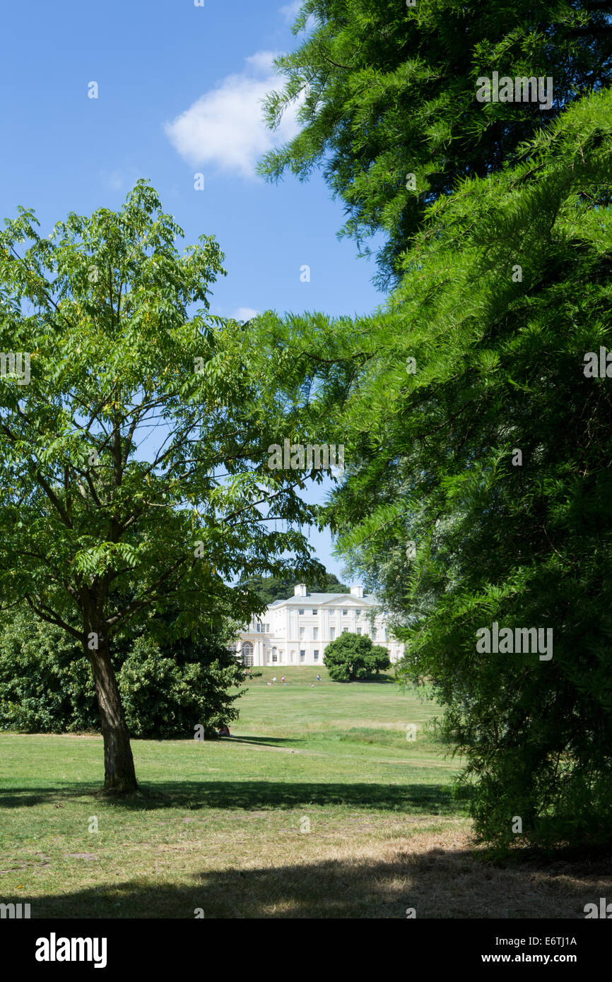 Kenwood House and gardens by Robert and James Adam in Hampstead Heath park - Stock Image