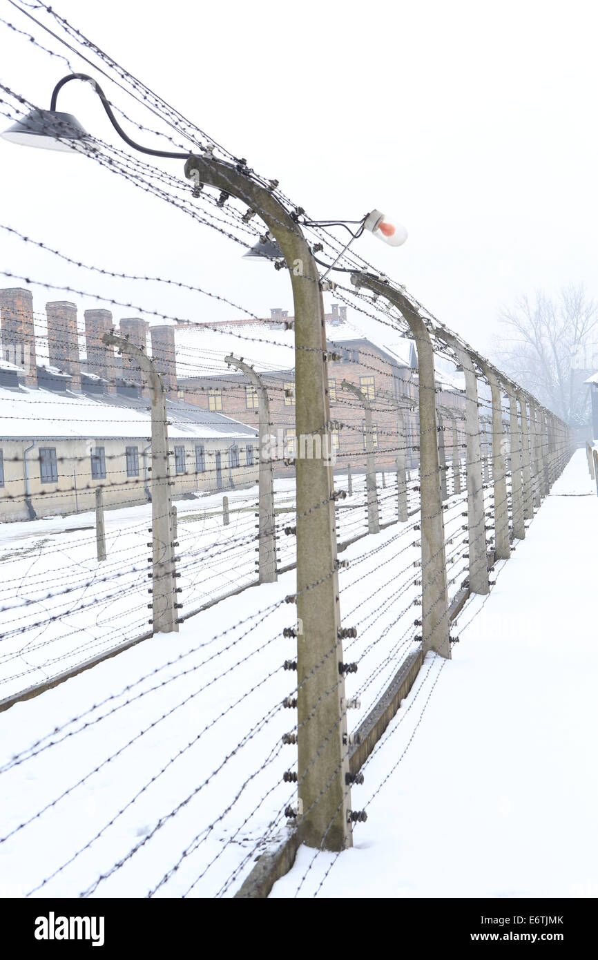 Auschwitz-Birkenau Nazi Concentration and Extermination Camp - Stock Image