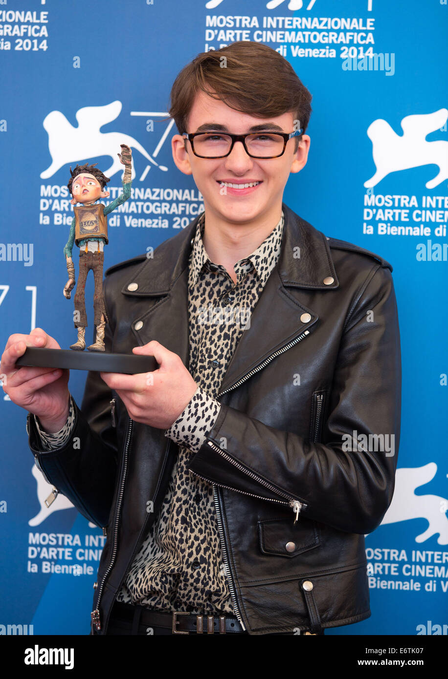 ISAAC HEMPSTEAD WRIGHT THE BOXTROLLS. PHOTOCALL. 71ST VENICE FILM FESTIVAL LIDO VENICE  ITALY 31 August 2014 - Stock Image