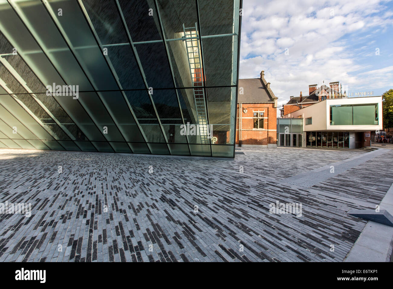 """""""Theatre Le Manege"""", theater in new and old buildings, central point for the Capital of Culture 2015, Mons, Belgium Stock Photo"""
