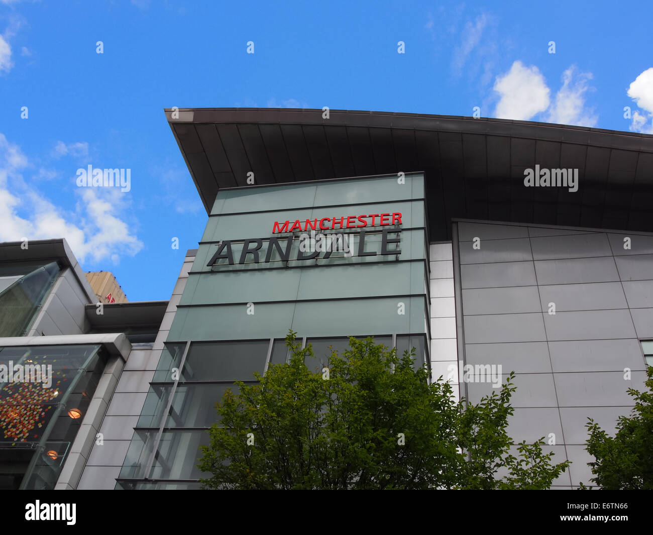 The sign at the entrance to Manchester Arndale shopping centre, England - Stock Image