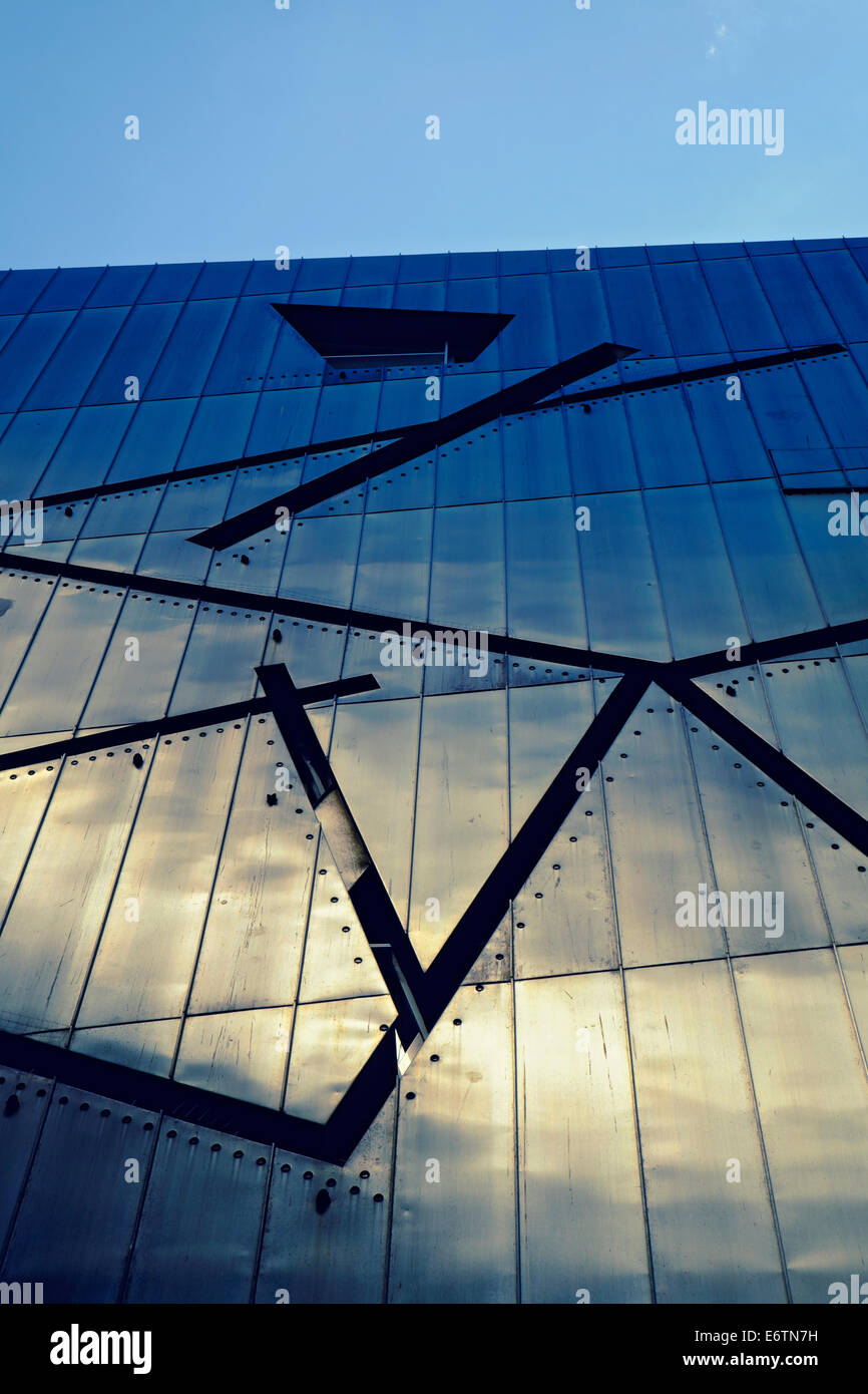 Exterior of Jewish Museum in Kreuzberg Berlin Germany; architect Daniel Libeskind - Stock Image