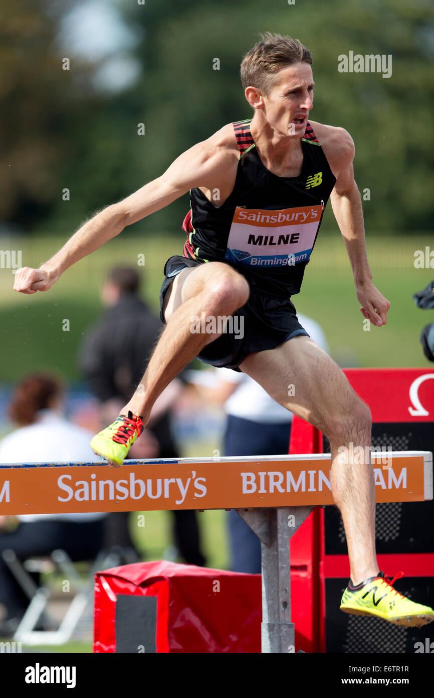 Taylor MILNE, 3000m Steeplechase Men's race Diamond League 2014 Sainsbury's Birmingham Grand Prix, Alexander - Stock Image
