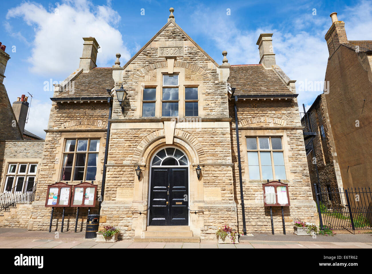 Town Council Queen Victoria Hall West Street Oundle Northamptonshire UK - Stock Image