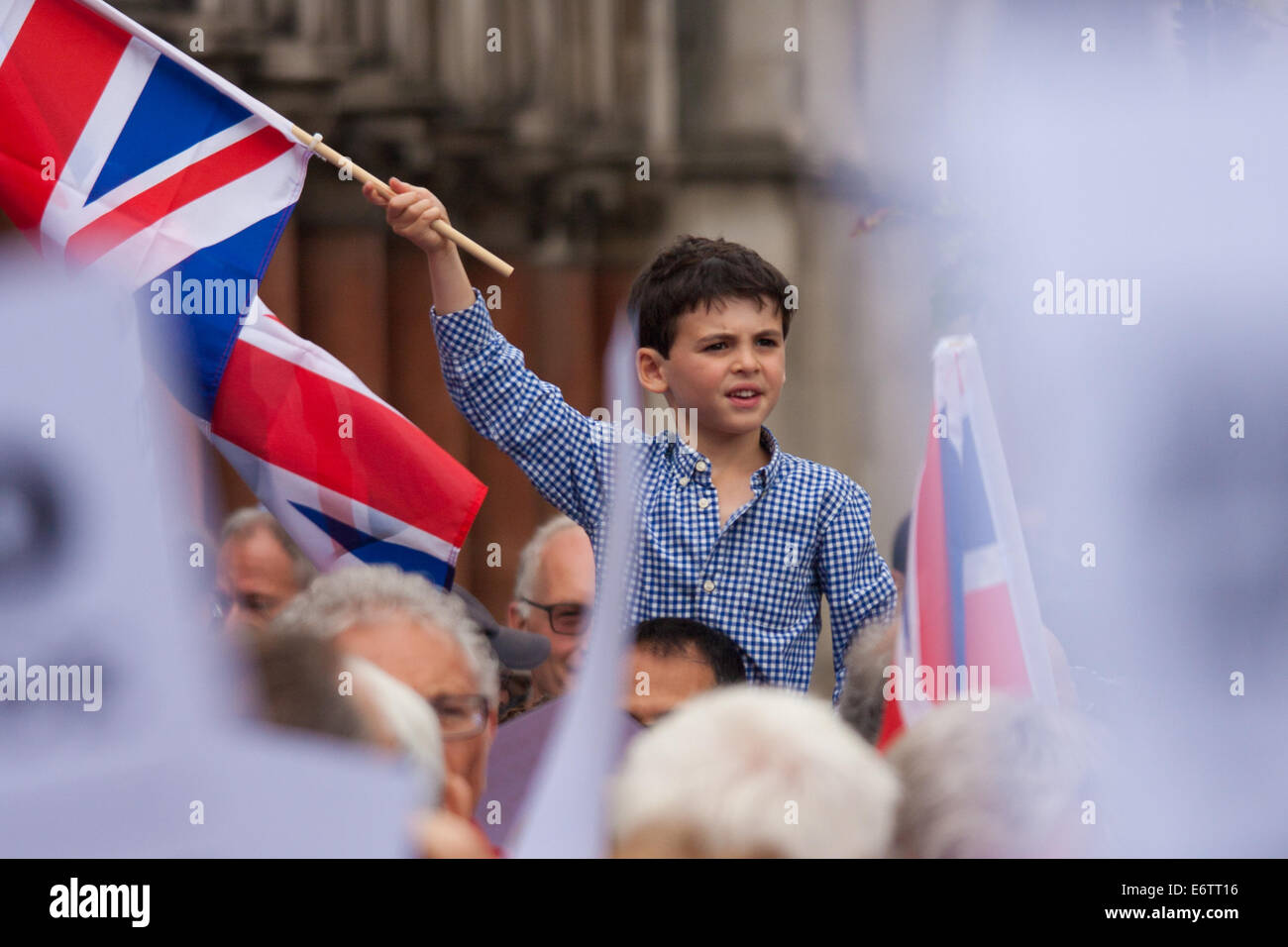 London, UK. 31st Aug, 2014. Thousands of Jews and their supporters orf all ages from London and across the UK demand - Stock Image