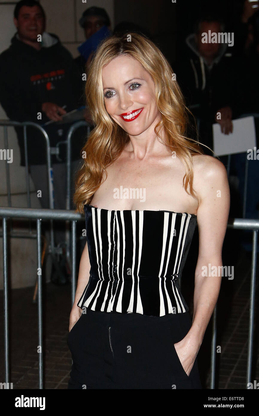 Actress Leslie Mann attends the screening of 'The Other Woman' at the Paley Center on April 24, 2013 in - Stock Image