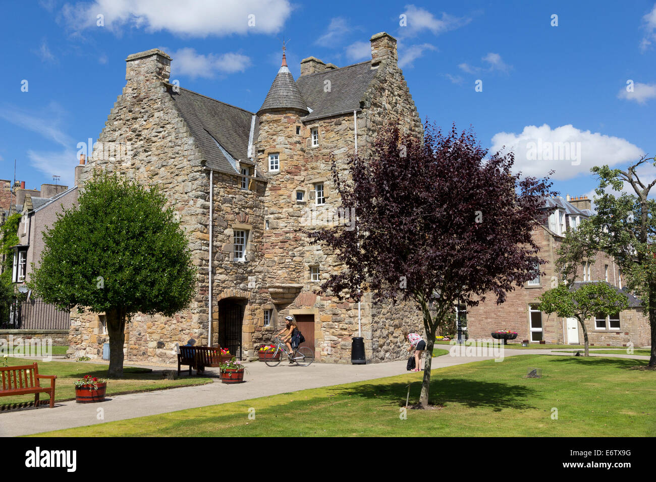 Mary Queen of Scots visitor centre, Jedburgh,  Roxburghshire, Scottish Borders, Scotland. Queen Mary stayed in this - Stock Image