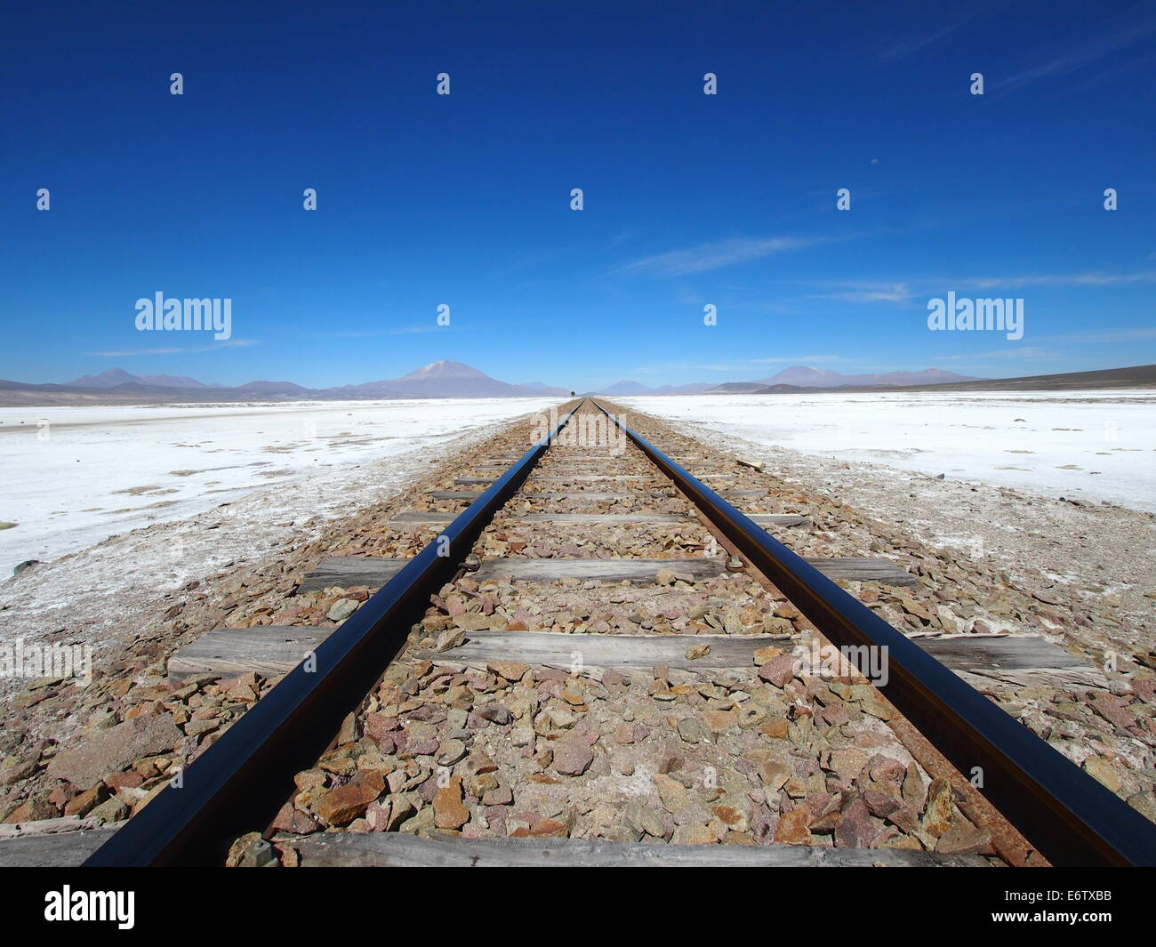 Railway to the heart of the Andes, Bolivia Stock Photo