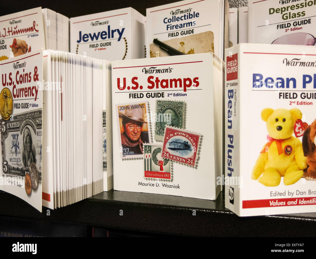 Collectors and Collectibles section, book retailer, NYC - Stock Image