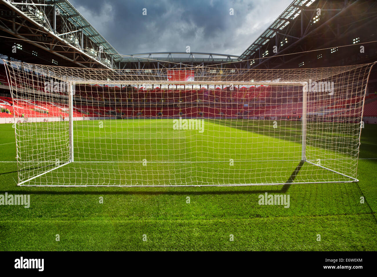 Moscow, Russia. 30th Aug, 2014. Moscow Opens World Cup 2018 Stadium - Otkrytie Arena Credit:  Nikolay Vinokurov/Alamy - Stock Image
