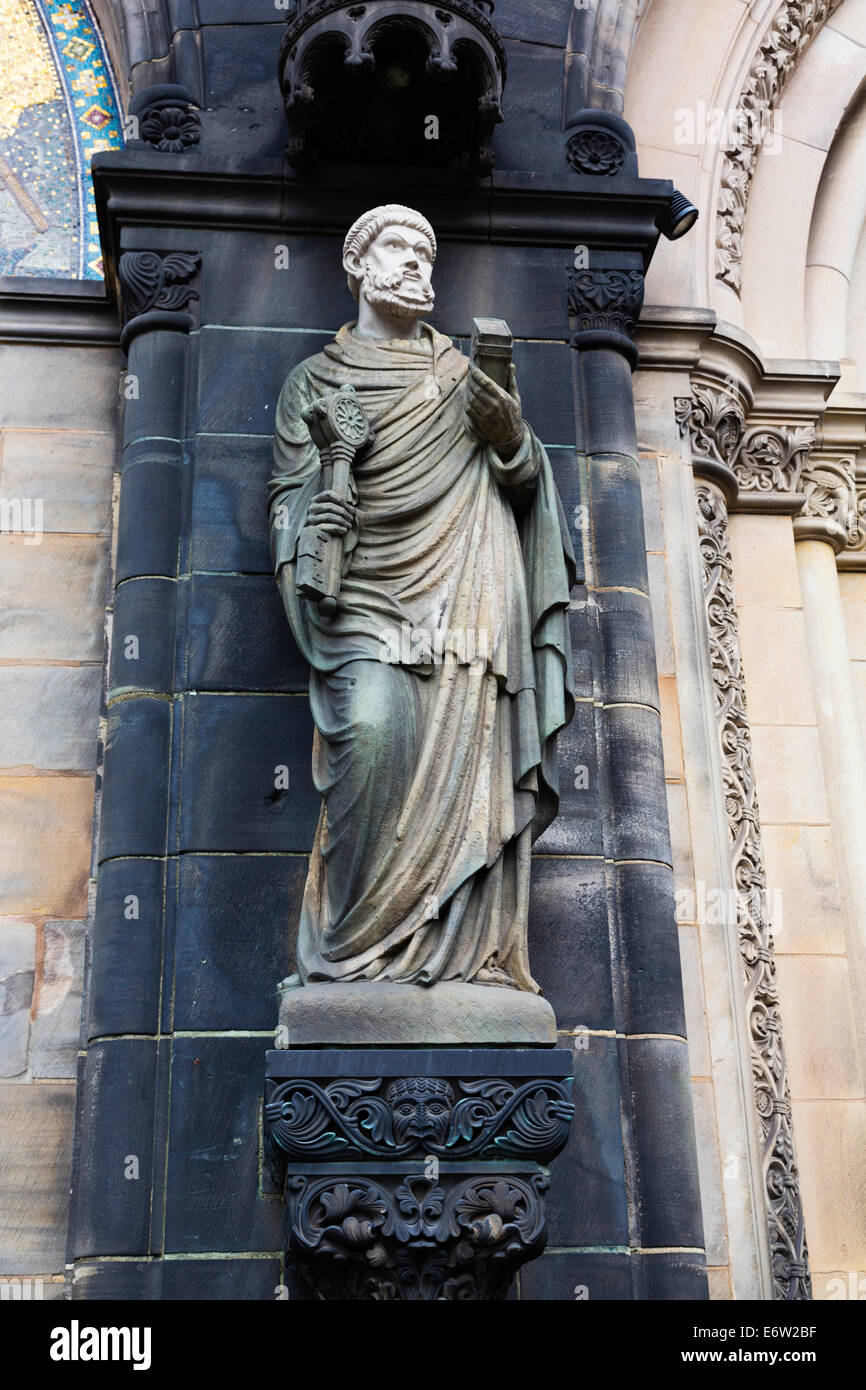 Statue on the Dom of St Petri, Bremen, Germany Stock Photo