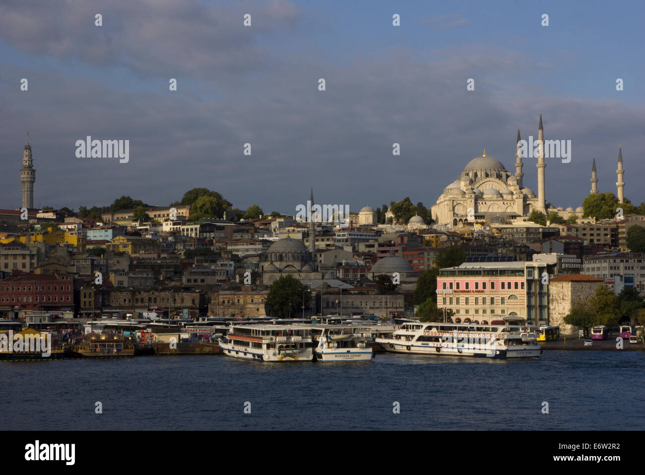 ISTAMBUL - August 30, 2014.  View of Istambul, the largest city of Turquey, from the Bosforus waterway. On August - Stock Image