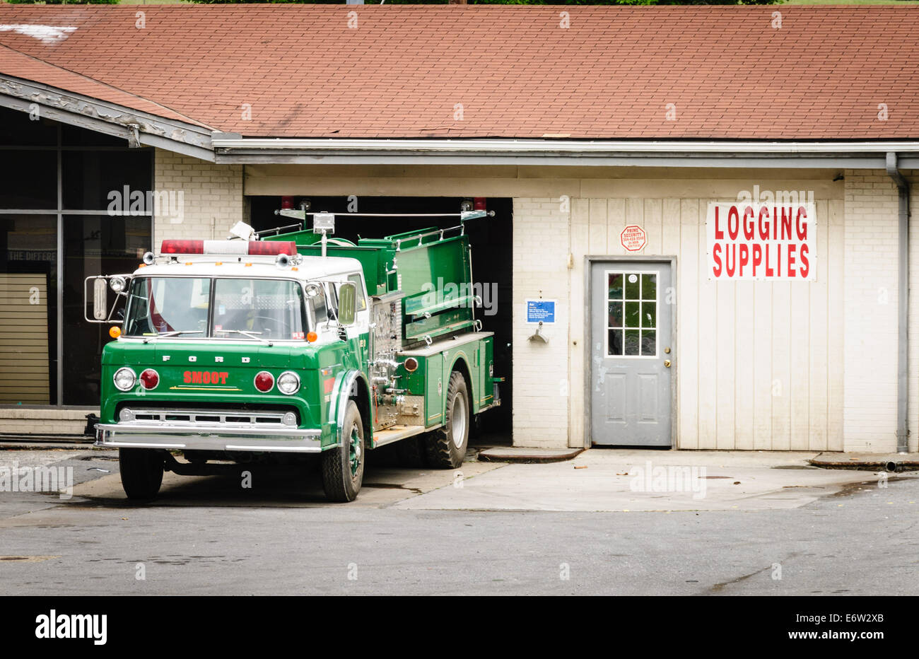 Smoot Area Volunteer Fire Department Ford Fire Truck, Crawley, West Virginia - Stock Image