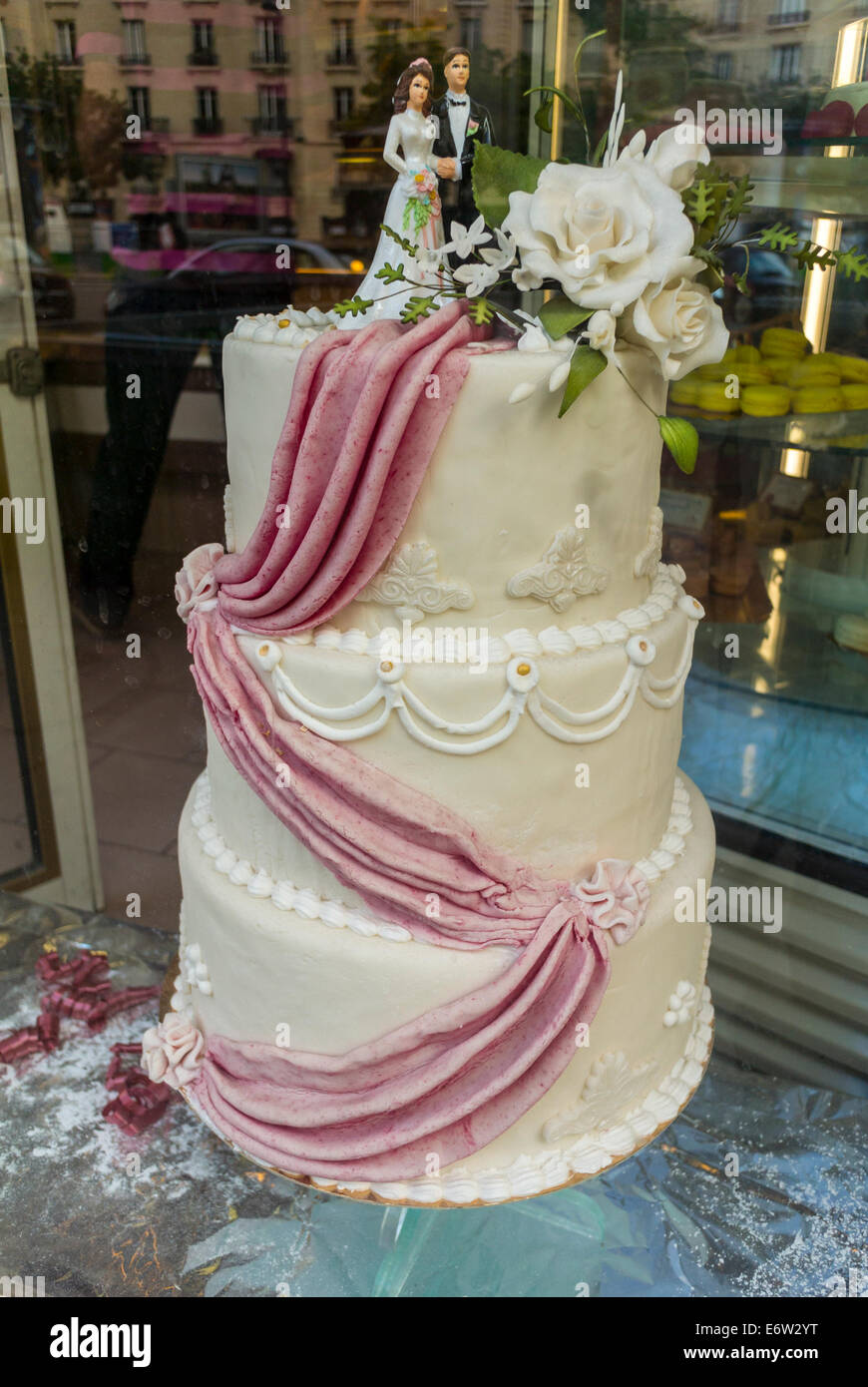 French Wedding Cake.Paris France Shopping French Pastries Traditional Wedding Cake