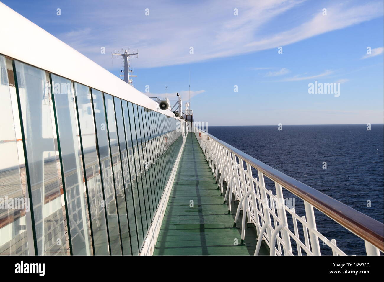 Sun Deck, P&O Cruises Oriana, Norway 2014 - Stock Image