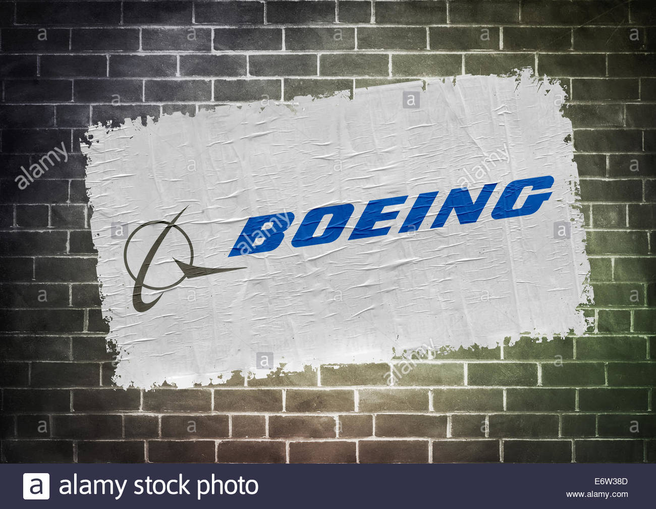 Boeing icon logo poster concept - Stock Image