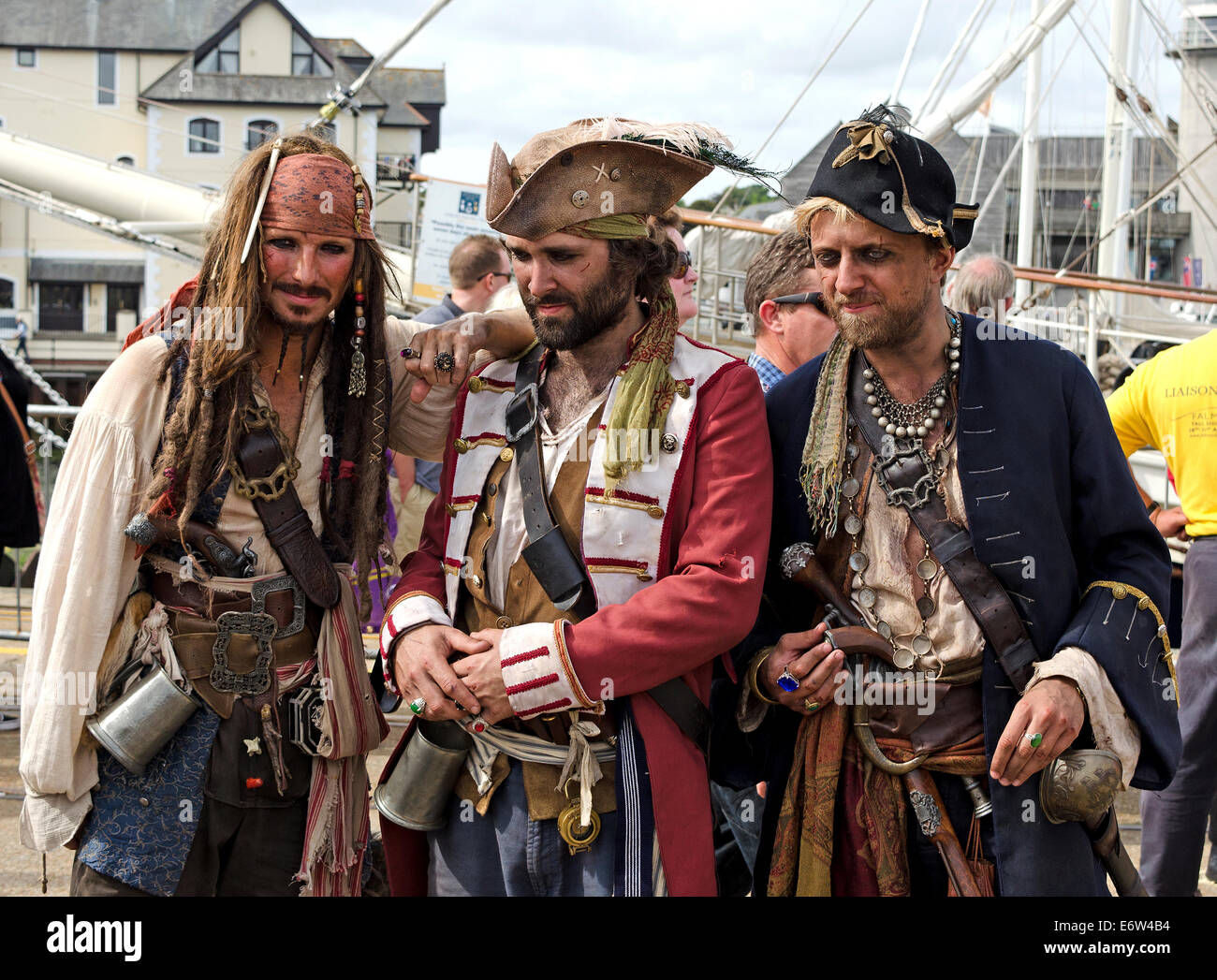 Three Pirates in Falmouth, Cornwall, UK - Stock Image