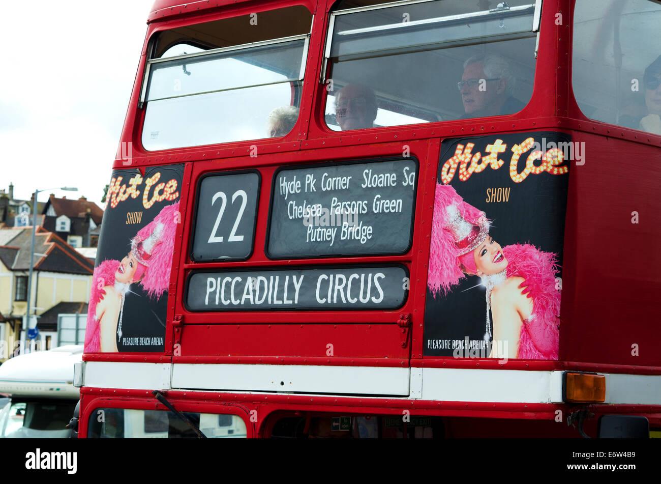 A London Tour Bus - Stock Image