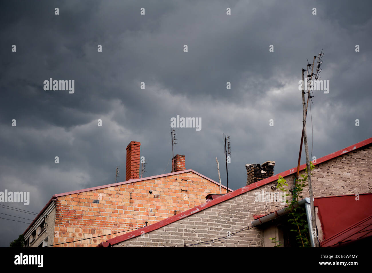 Gloomy clouds weather - Stock Image