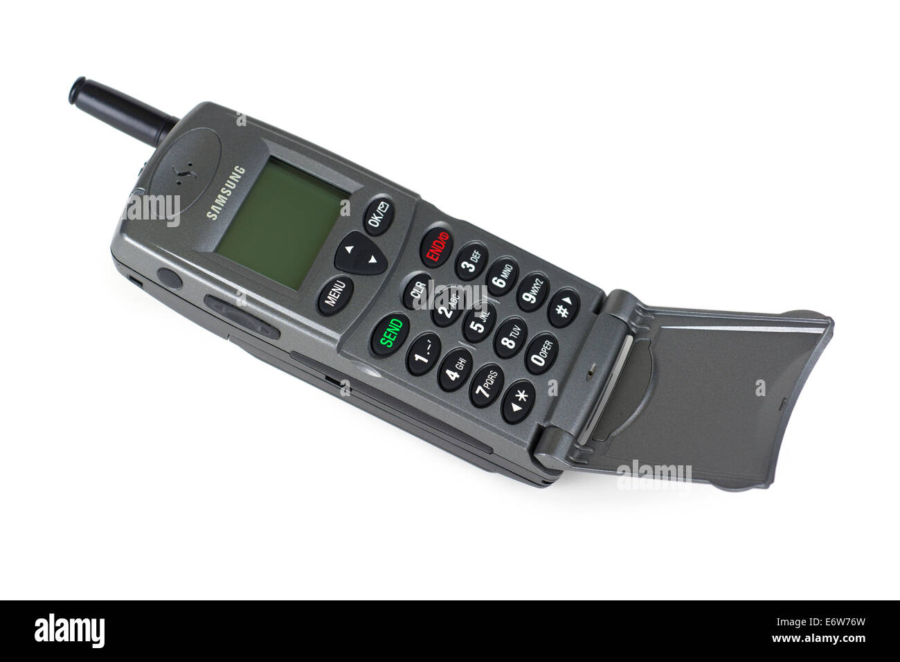 Old Mobile Phone, Old Cell Phone, Samsung Model - Stock Image