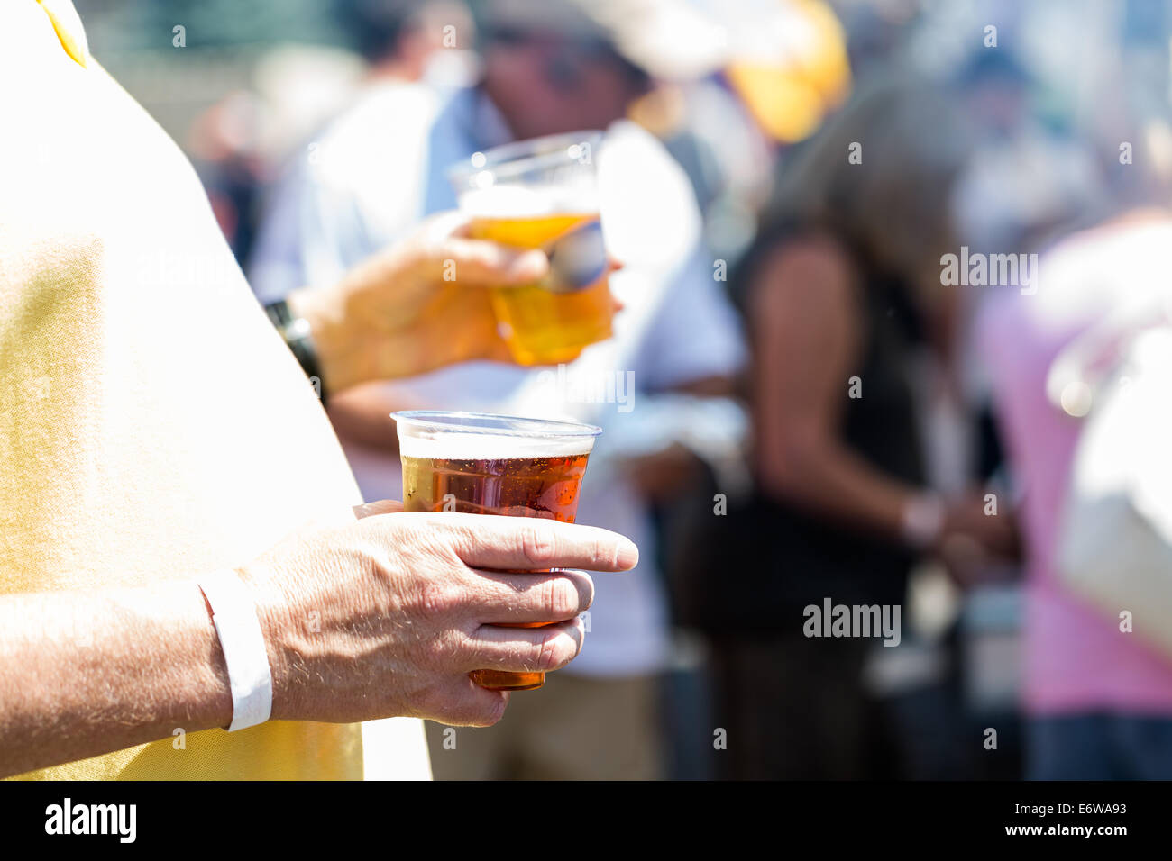 Smokin Brew BBQ summer festival. - Stock Image