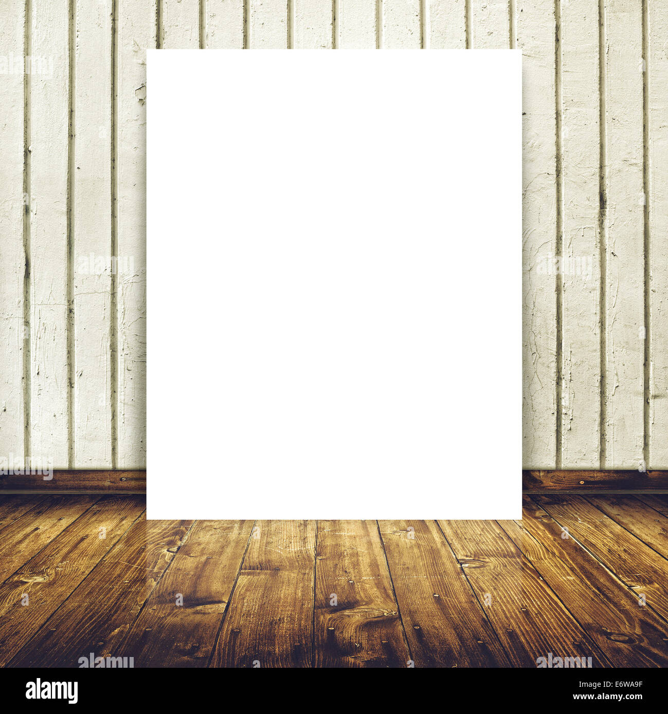 blank poster as copy space template for your design in vintage empty