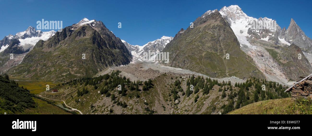 Mont Blanc, Val Veny, Italian Alps - Stock Image