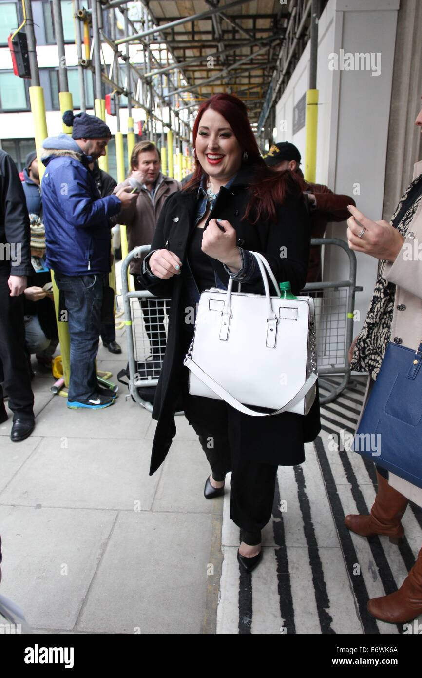American Idol Jessica Clemmons leaving Radio 2 after promoting her new single, Single Tonight  Featuring: Jessica Stock Photo