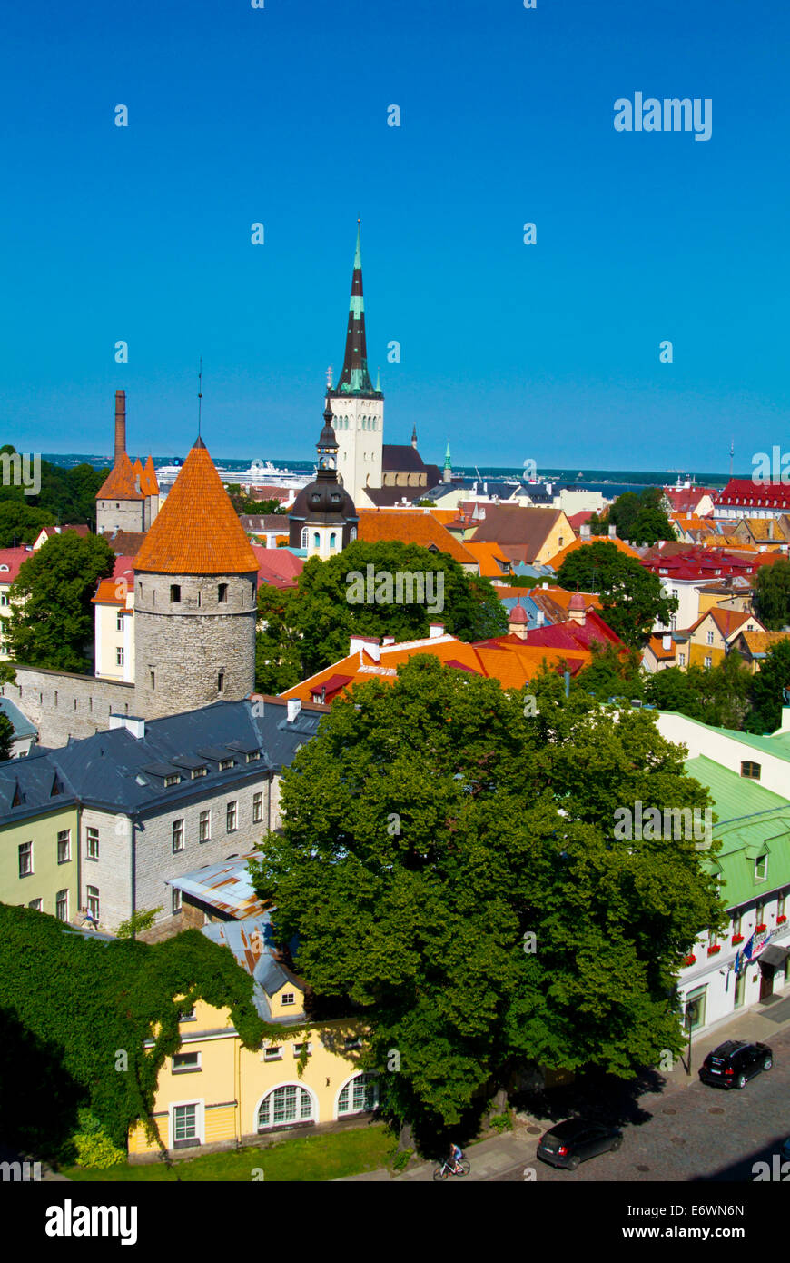 Old town, Tallinn, Estonia, Baltic states, Europe - Stock Image