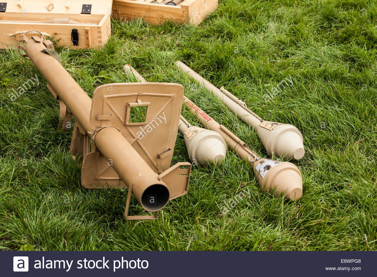 Panzerschreck German Anti Tank Rocket Launcher - World War Two - Stock Image