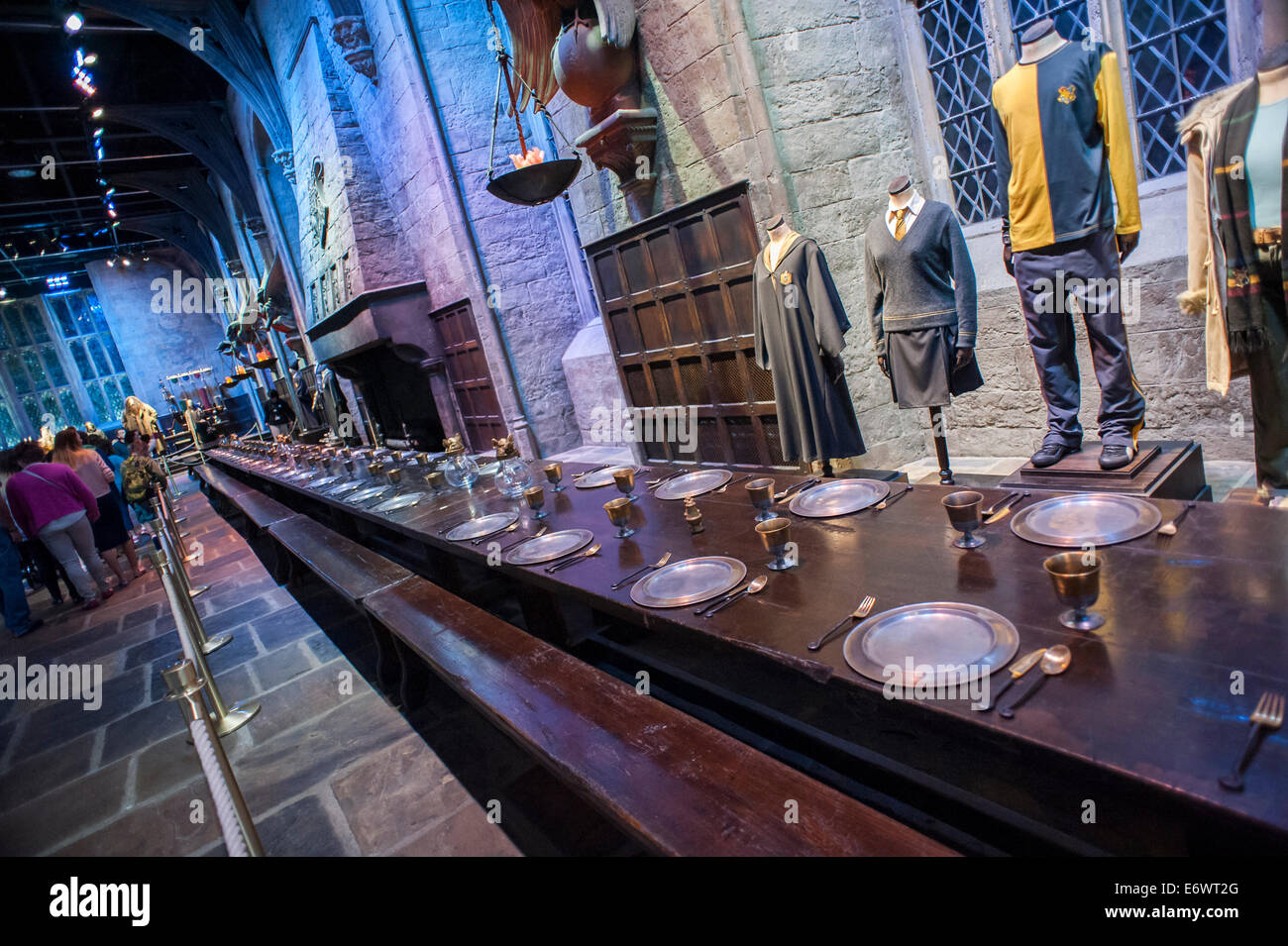 Warner Bros. Studio Tour London - The Making of Harry Potter preserves and showcases the iconic props. Stock Photo