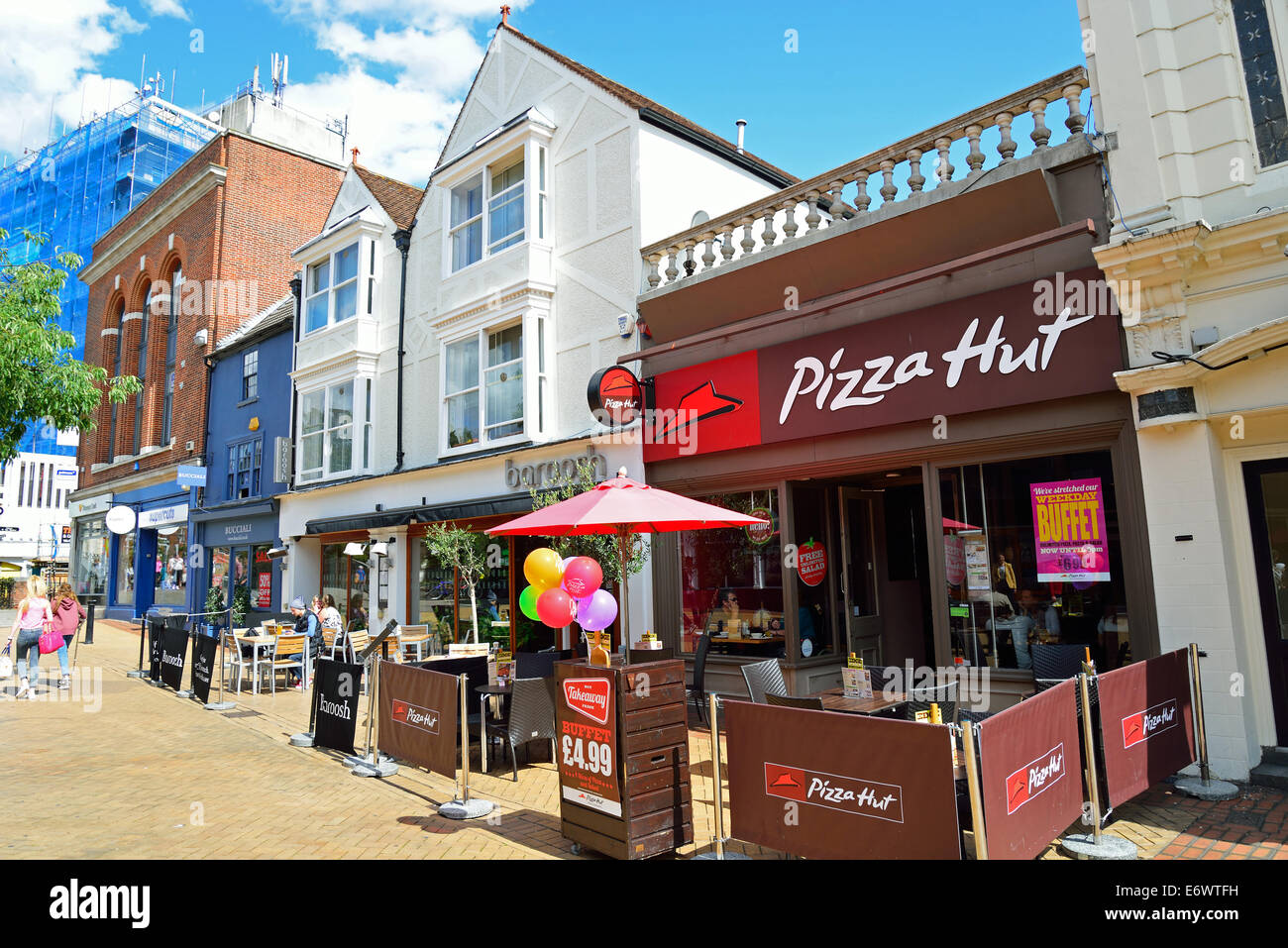Pizza Hut Restaurant Moulsham Street Chelmsford Essex