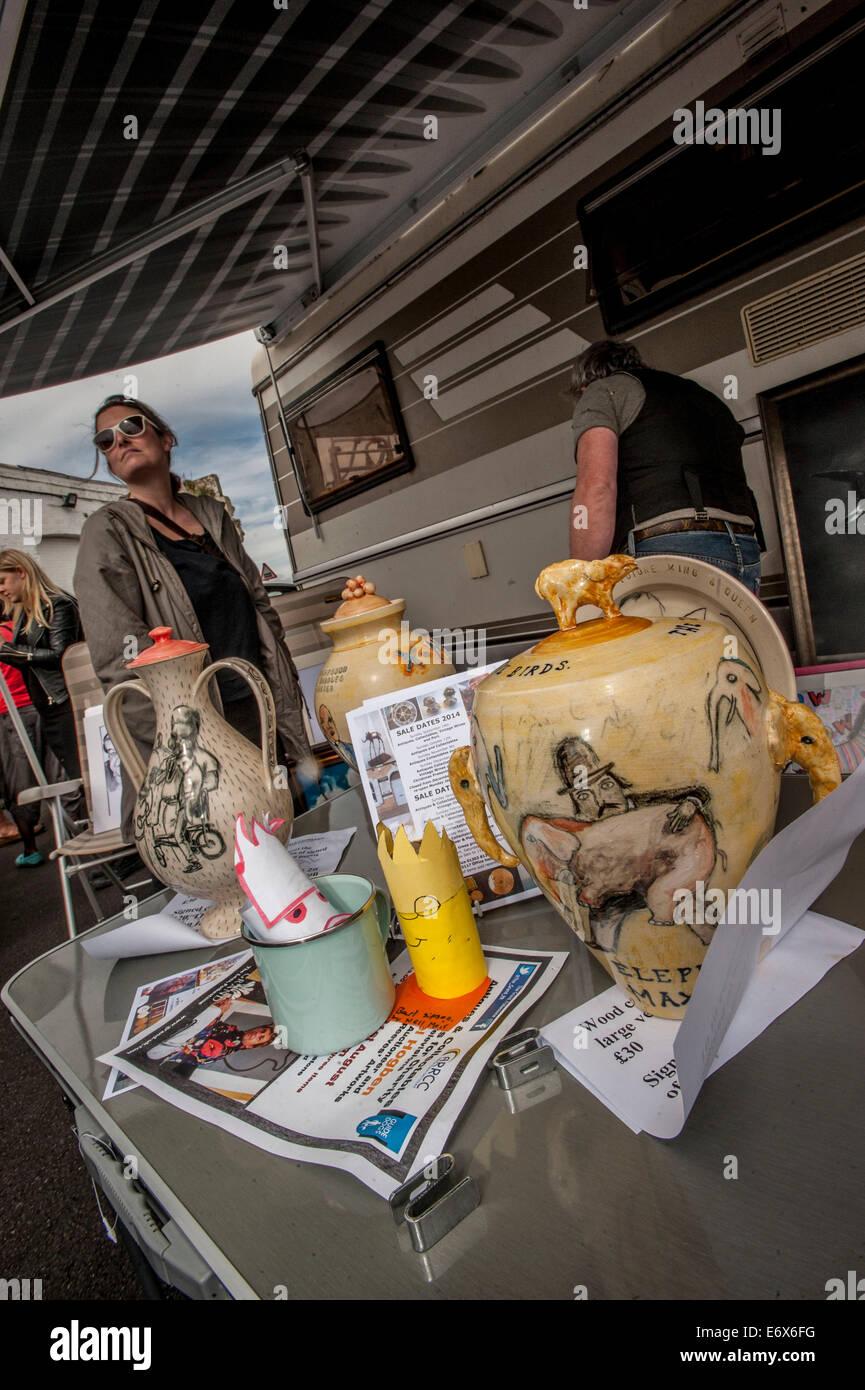 hit art sale concept vauxhall art car boot fair travels to