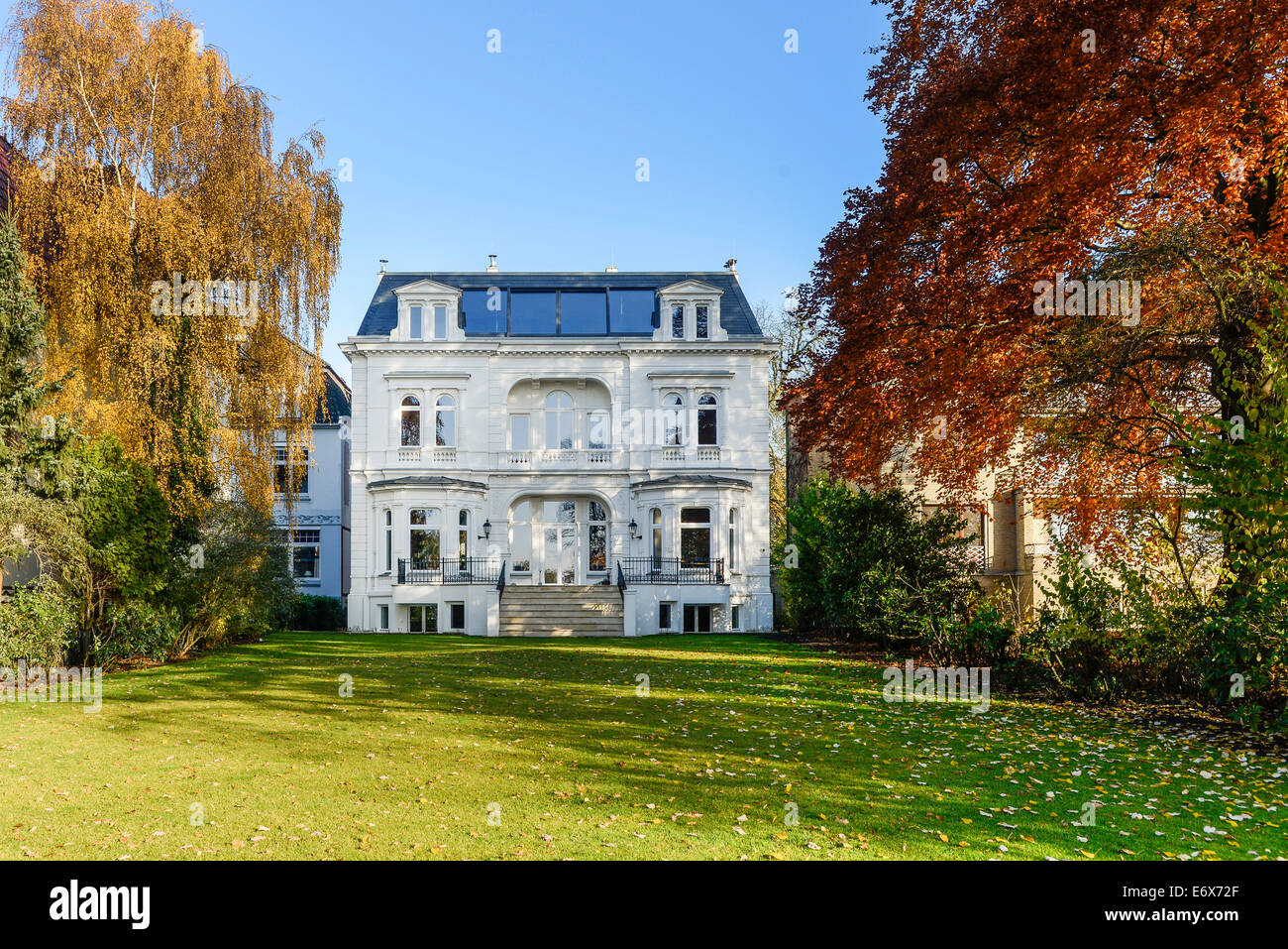 art nouveau villa and park in hamburg eppendorf hamburg germany stock photo 73105719 alamy. Black Bedroom Furniture Sets. Home Design Ideas