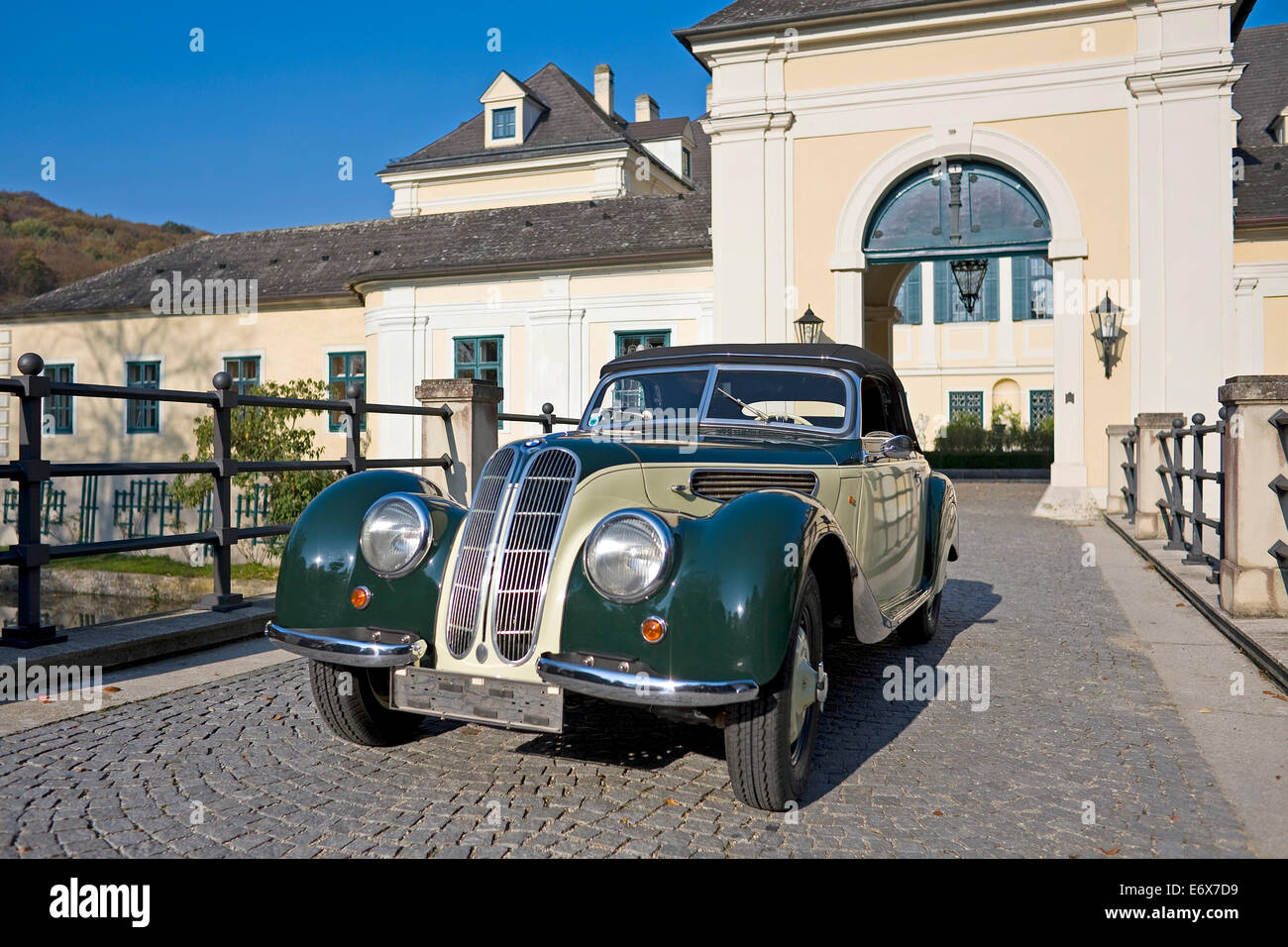 Vintage BMW 327-28, convertible, saloon car, built in 1939 - Stock Image